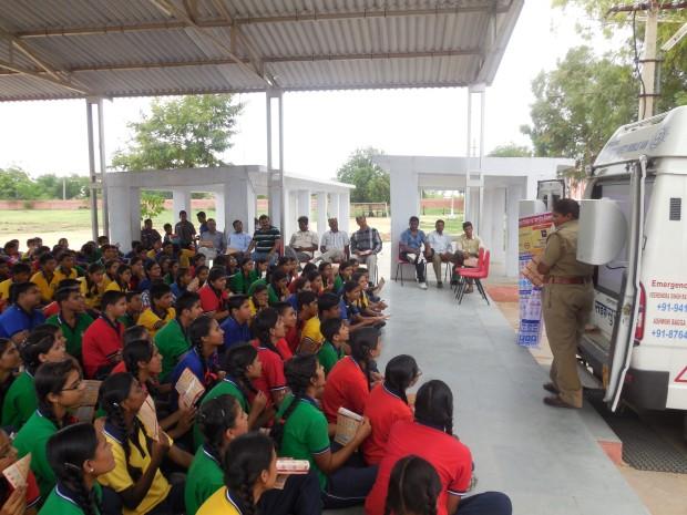 Hindustan Zinc Road Safety classes in Kendriya Vidyalaya in Ajmer